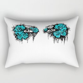 If I Could hide your eyes - blue version Rectangular Pillow