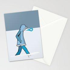 January Blues Stationery Cards