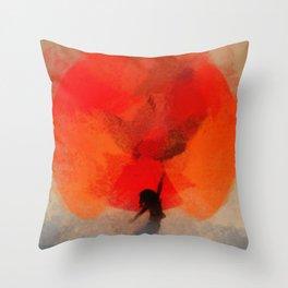 umbrellaliensunshine: atomicherry spring! Throw Pillow