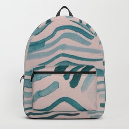 Trippy Turquoise Waves Backpack