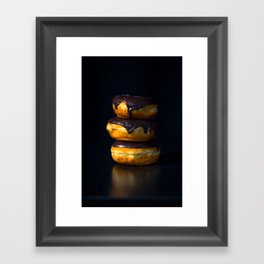 Chocolate Glazed Donuts Framed Art Print
