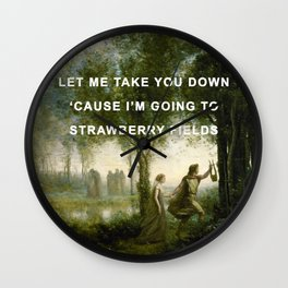 Orpheus Leading Eurydice to Strawberry Fields Wall Clock
