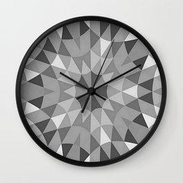 Grey Pattern Wall Clock