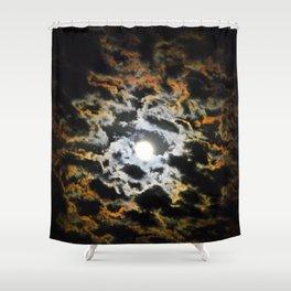Tiger Full Moon Shower Curtain