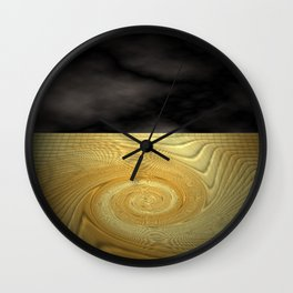 Swirling sands Wall Clock
