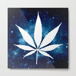 Weed : High Times Blue Galaxy Metal Print
