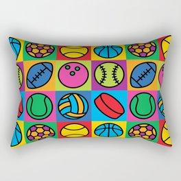 Sport Ball Pop Art Rectangular Pillow