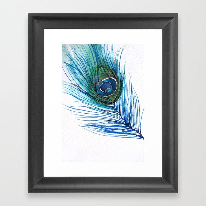 Peacock Feather I Framed Art Print