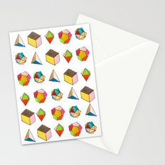 Platonic Solids Stationery Cards