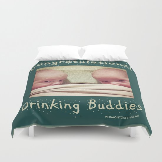 Congratulations on Twins Babies! Duvet Cover