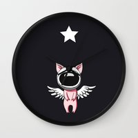 piglet Wall Clocks featuring Piglet in Space by Freeminds