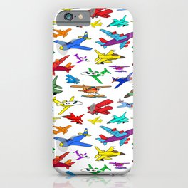 Colorful Airplanes iPhone Case