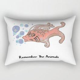 Remember The Animals Fish T-Shirt Rectangular Pillow