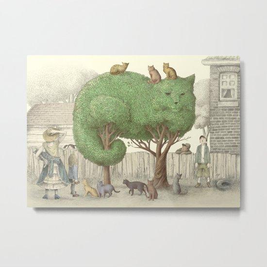 The Night Gardener - The Cat Tree Metal Print