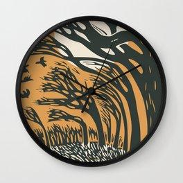 The runaway hare Wall Clock