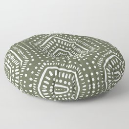 Boho Painted Olive Floor Pillow