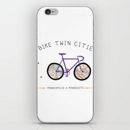 Twin Cities by I Bike iPhone Skin
