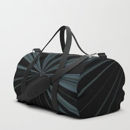 Black Velvet Silver Flower Button Design Duffle Bag