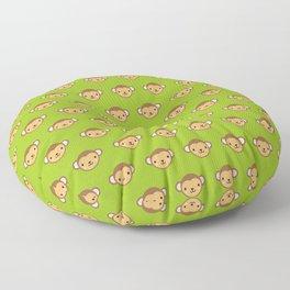Monty the Monkey Pattern Floor Pillow