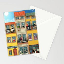 Porto Houses - Portugal Stationery Cards