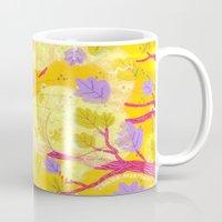 cheshire cat Mugs featuring Cheshire Cat by Janna Morton