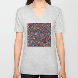 butterfly kaleidoscope square Unisex V-Neck