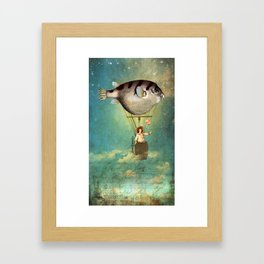 Floated all the way... Framed Art Print