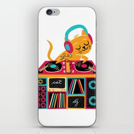 Cat DJ iPhone Skin