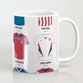 The Evolution Of The Us World Cup Soccer Jersey Coffee Mug