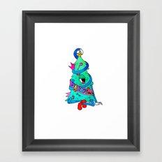 Monster Xmas Framed Art Print