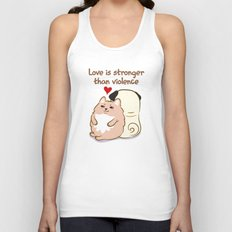 Love is stronger than violence Unisex Tank Top