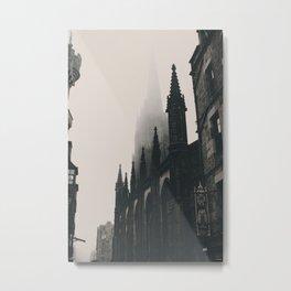 The Dark Vintage Buildings (Color) Metal Print