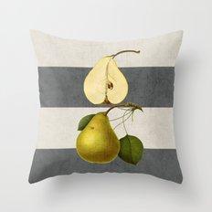 botanical stripes - pear Throw Pillow