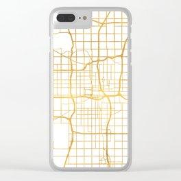 OKLAHOMA CITY STREET MAP ART Clear iPhone Case