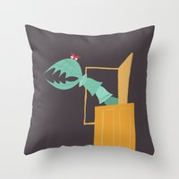 monsters inc Throw Pillows featuring Monsters, Inc. - Scary Doors by Federico Detor Simoni