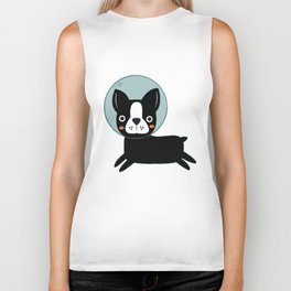 Boston Terrier In Space Biker Tank
