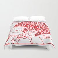 tmnt Duvet Covers featuring TMNT Pizza by David G. Wagner