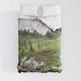 Mt. Rainier, Edith Creek, Scenic Landscape, National Park Comforters