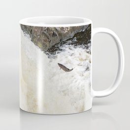 Leaping Atlantic salmon salmo salar Coffee Mug
