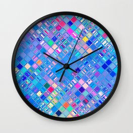 Re-Created  Mosaic No. EIGHT by Robert S. Lee Wall Clock