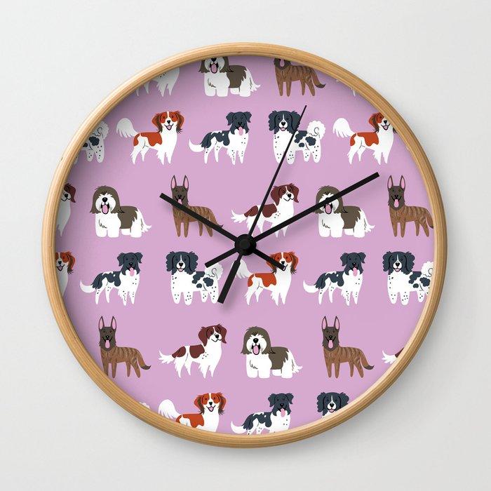 DUTCH DOGS Wall Clock