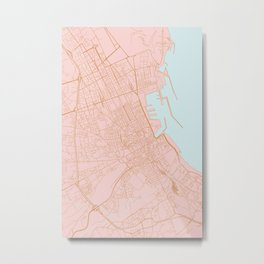 Palermo map Metal Print