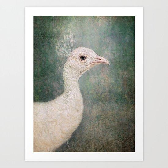The Little White Queen Art Print