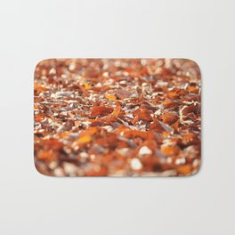 Autumn Leaves in Sunshine Photography Bath Mat