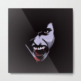 Scary Female Vampire Metal Print
