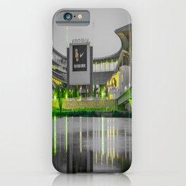 Baylor McLane Football Stadium Green Print iPhone Case
