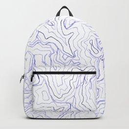 Secret places I - handmade blue map Backpack
