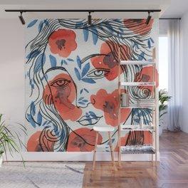 Botticelli girl Wall Mural
