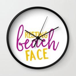 Resting Beach Face Wall Clock