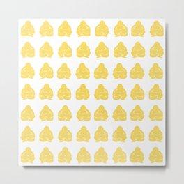 Pale Yellow Asian Moods Buddha Boys Metal Print